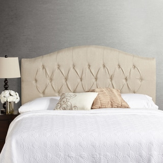 Humble + Haute Halifax Ivory Raffia Arched Upholstered Headboard