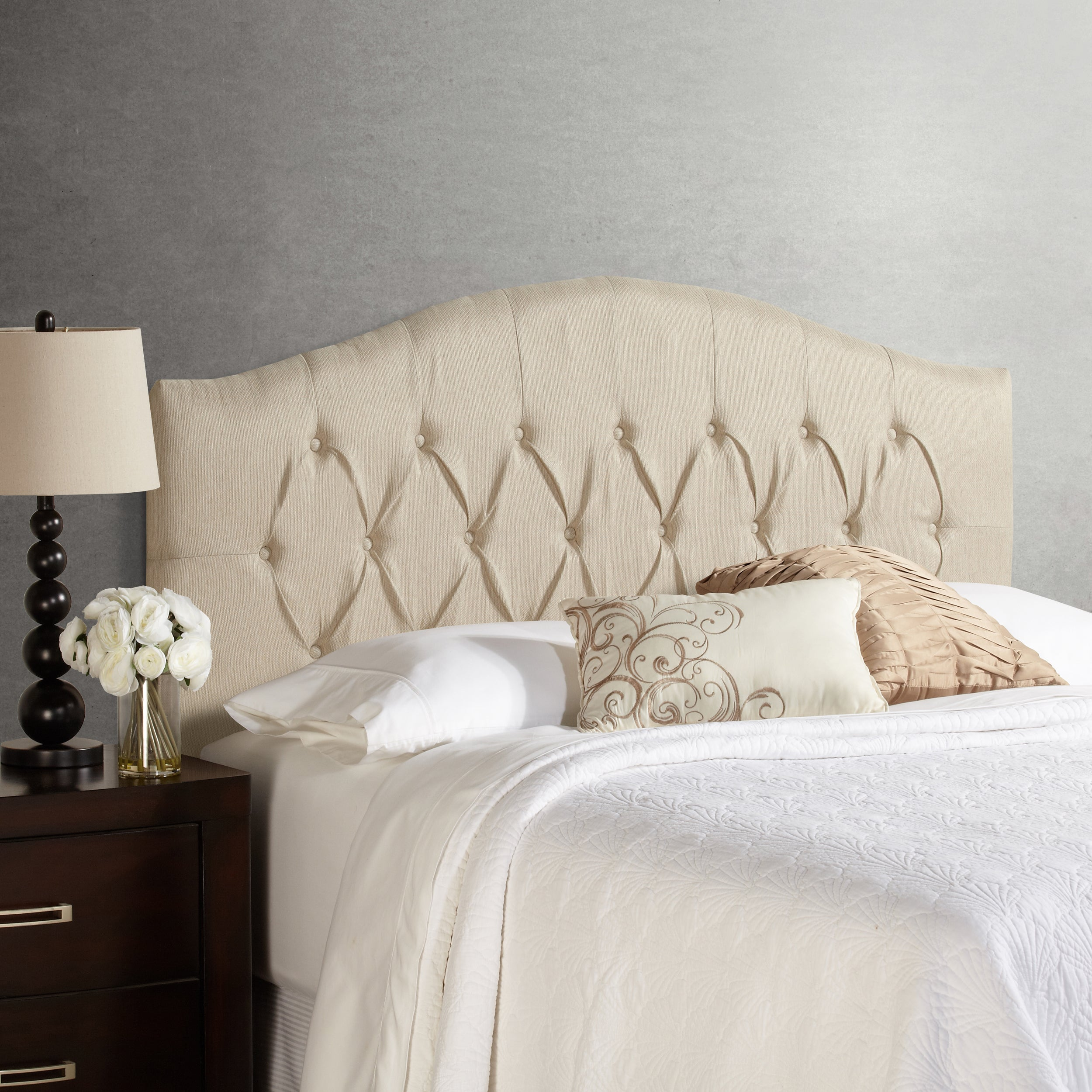 Humble + Haute Halifax Ivory Raffia Arched Upholstered He...