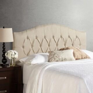 Humble + Haute Halifax Ivory Raffia Arched Upholstered Headboard