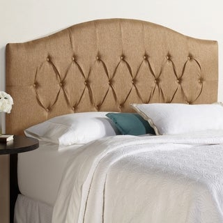 Humble + Haute Halifax Queen Size Golden Brown Arched Upholstered Headboard
