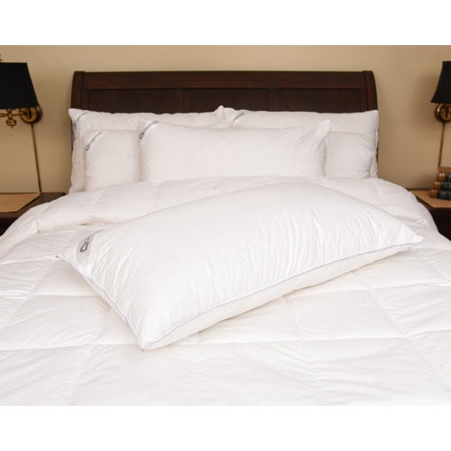 Downia 330 Thread Count Cotton White Goose Down Pillow