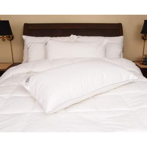 Downia 330 Thread Count Cotton White Goose Down Pillow