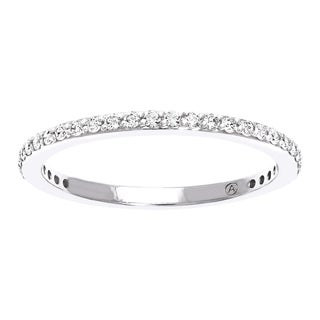 Beverly Hills Charm 10K Gold 1/4ct TDW Diamond Stackable Anniversary Band (H-I, I2-I3)