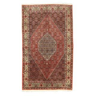 Hand-knotted Wool Rust Traditional Oriental Bidjar Rug (5'3 x 9') - M