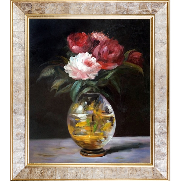 Shop Edouard Manet Bouquet Of Flowers Hand Painted Framed Canvas