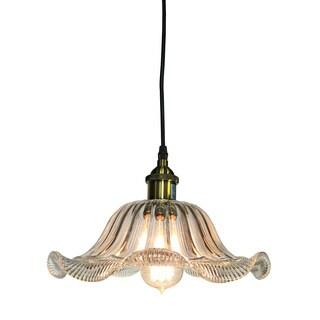 Sarai 1-light Clear Glass 12-inch Edison Pendant with Bulb
