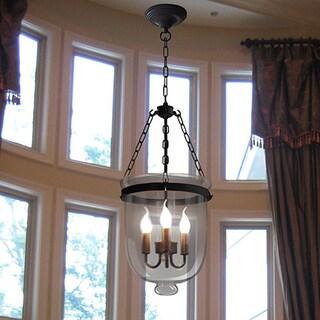 Vashti 3-light Clear Glass 12-inch Chandelier with Bulbs