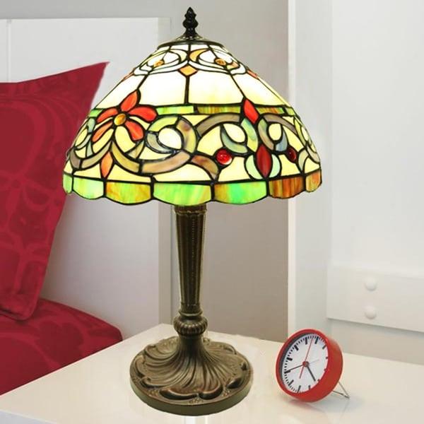 Shop Mathilde 1 Light Cursive Tiffany Style 12 Inch Table Lamp