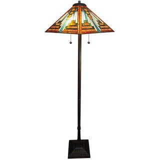 Shay 2-light Orange Tiffany-style 16-inch Floor Lamp