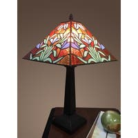 Tangy 1-light Leafy Tiffany-style 12-inch Table Lamp