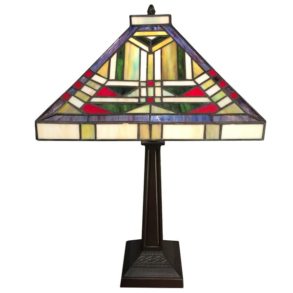 Skyler 2-light Tiffany-style 16-inch Table Lamp