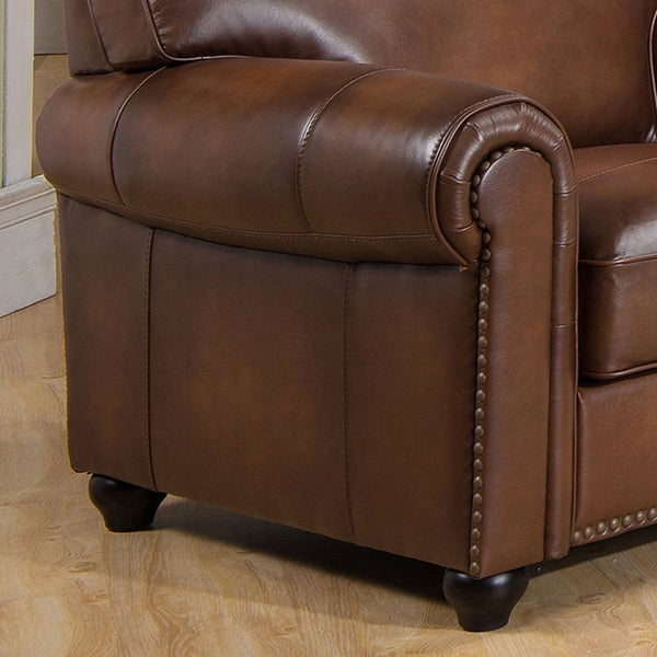 Oasis Premium Brown Top Grain Leather Sofa, Loveseat And Chair   Free  Shipping Today   Overstock.com   17577069