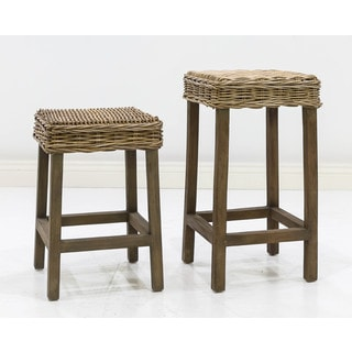 Somette Hayes Indoor/Outdoor Rattan Counter/Bar Stool