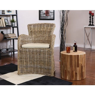 Somette Vivan Indoor/ Outdoor Rattan Dining/ Accent Chair