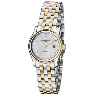 Frederique Constant Women's FC-303MPWN1B3B 'Index' Mother of Pearl Dial Two Tone Stainless Steel Automatic Watch