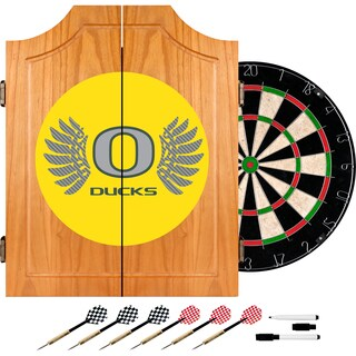 University of Oregon Wood Dart Cabinet Set - Wings