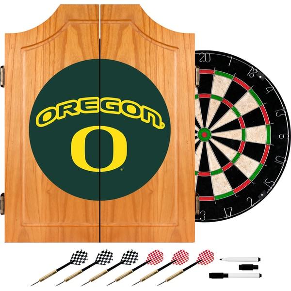 University of Oregon Wood Dart Cabinet Set