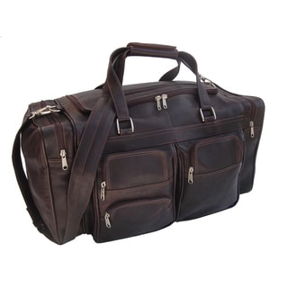 Piel Leather 20-inch Duffel Bag with Pockets