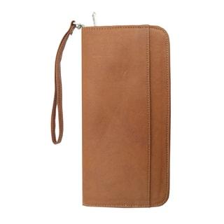Piel Leather Zippered Passport/ Ticket Holder