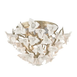 Corbett Lighting Lily 3-light Flush Mount
