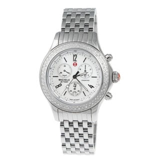 Michele Women's MWW17A000001 'Jetway' Chronograph Diamond Stainless Steel Watch