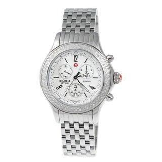 Michele Women's MWW17A000001 'Jetway' Chronograph Diamond Stainless Steel Watch
