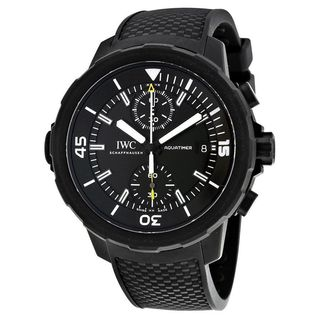 IWC Men's IW379502 'Aquatimer' Chronograph Automatic Black Rubber Watch