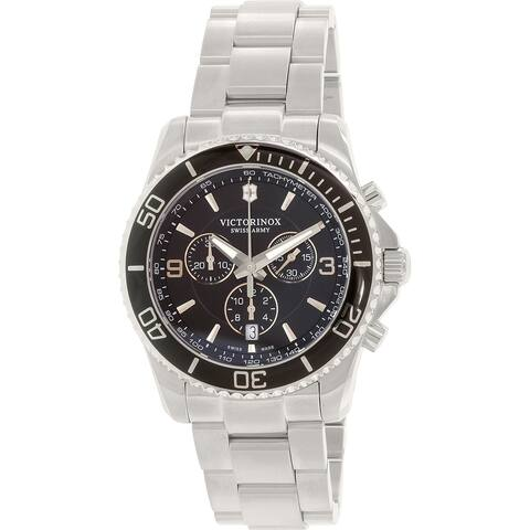 Victorinox Swiss Army Men's 241695 'Maverick' Chronograph Stainless Steel Watch