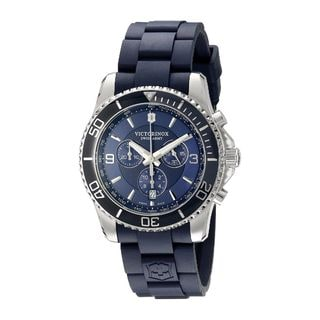 Victorinox Swiss Army Men's 241690 'Maverick' Chronograph Blue Rubber Watch