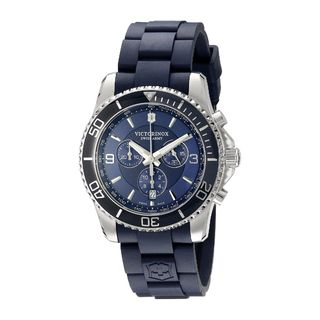 Victorinox Swiss Army Men's 'Maverick' Chronograph Blue Rubber Watch
