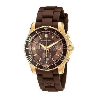 Victorinox Swiss Army Men's 241692 'Maverick' Chronograph Brown Rubber Watch