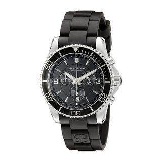Victorinox Swiss Army Men's 241696 'Maverick' Chronograph Black Rubber Watch