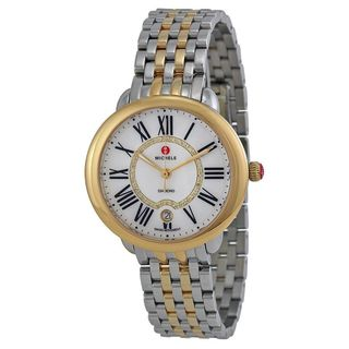 Michele Women's MWW21B000015 'Serein 16' Diamond Two-Tone Stainless Steel Watch