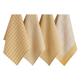 Golden Cream Dishtowel Set of 4