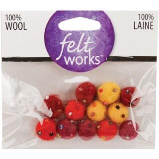 Feltworks Ball AssortmentBeaded Warm Mini 12/Pkg