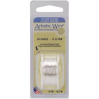 Artistic Wire 28 Gauge 15ydNonTarnish Silver|https://ak1.ostkcdn.com/images/products/10489736/P17577432.jpg?impolicy=medium