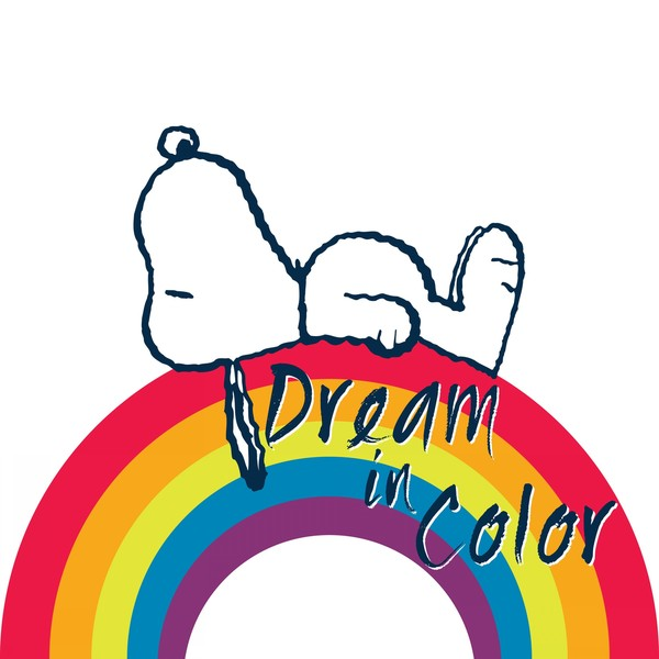 """Marmont Hill - """"Dream in Color"""" Peanuts Print on Canvas"""