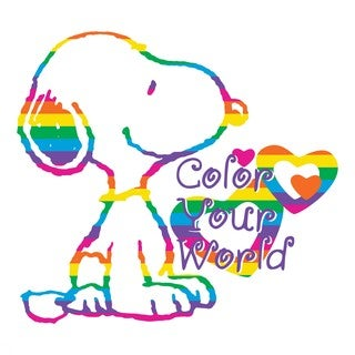 """Marmont Hill - """"Color World"""" Peanuts Print on Canvas"""