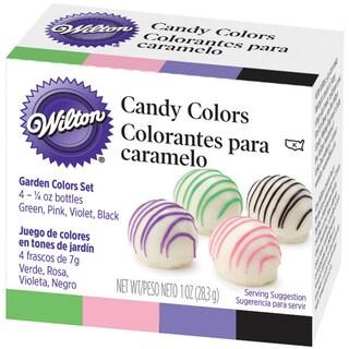 Candy Colors .25oz 4/PkgPink, Green, Violet & Black