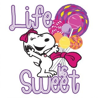 """Marmont Hill - """"Life Is Sweet"""" Peanuts Print on Canvas"""