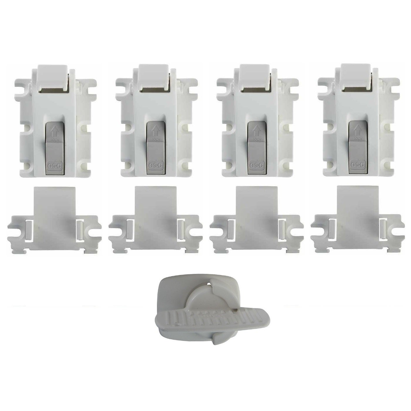 KidCo Magnetic Lock Plus Key and Holder (Pack of 4) (Magn...