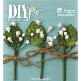 DIY Paintables Baby's Breath Flower Picks 1inX3in 3/PkgWhite