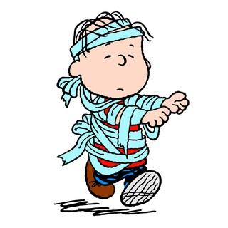 "Marmont Hill - ""Linus Mummy"" Peanuts Print on Canvas - Multi-color"