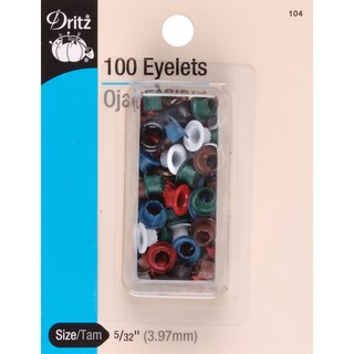 Eyelets 5/32in 100/PkgAssorted Colors