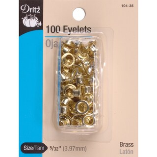 Eyelets 5/32in 100/PkgBrass