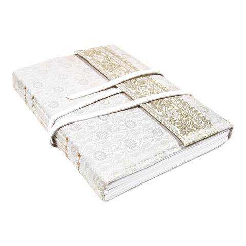 Handmade Gift-boxed Silk / Leather Bridal Scrapbook Journal (India)