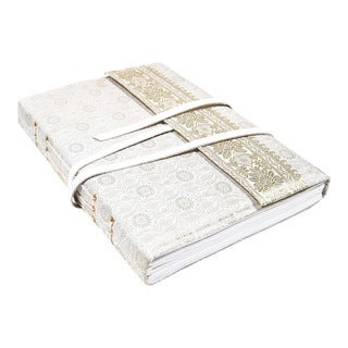 Gift-boxed Silk / Leather Bridal Scrapbook Journal (India)