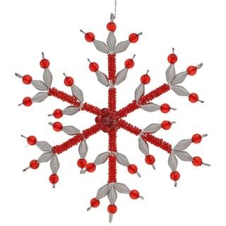 Handmade Crystal Snowflake Christmas Ornament (India)
