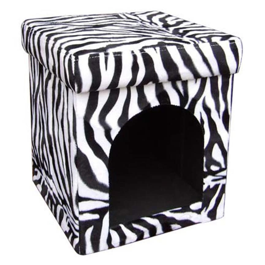 ORE International Folding Collapsible Pet House (White/Bl...