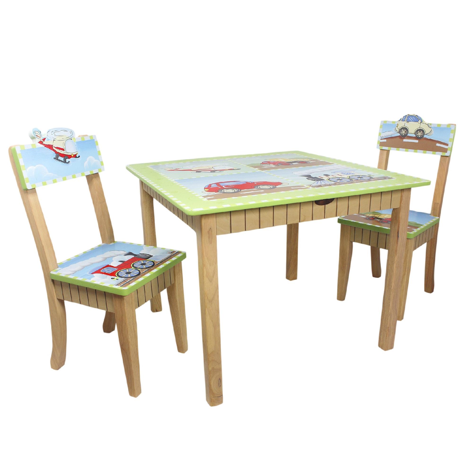 Teamson Fantasy Fields Transportation Table 3-piece Kid's...